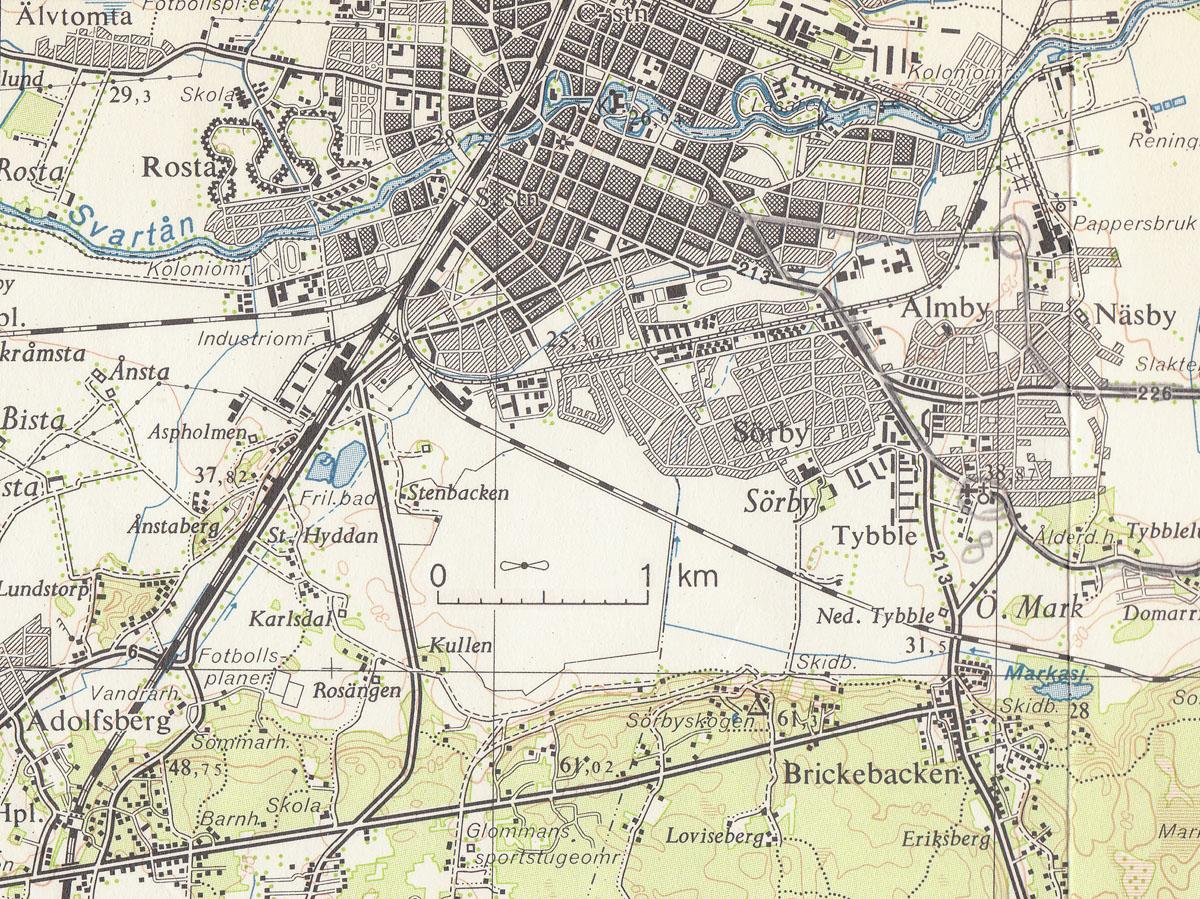 topografisk karta göteborg Gustavsviks flygfält   Kartor topografisk karta göteborg